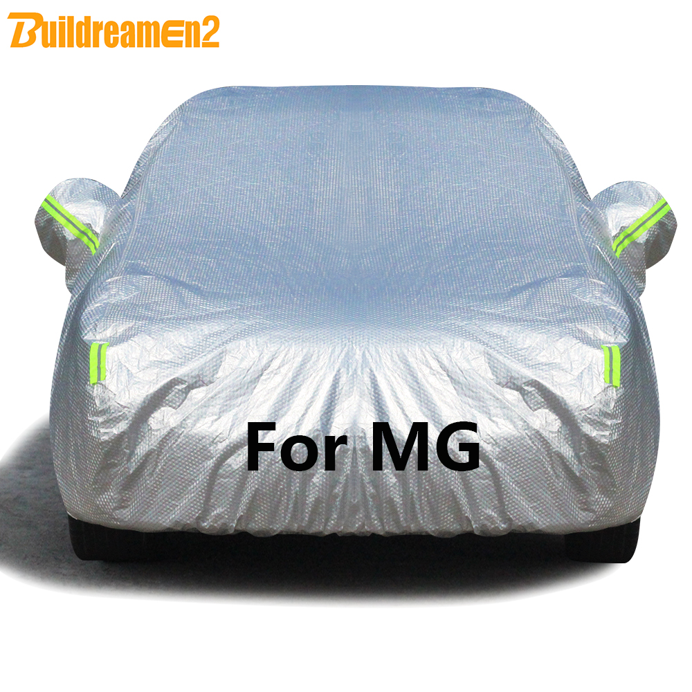 Buildremen2 Thick Cotton Car Cover Waterproof Sun Shade Rain Snow Hail Dust Protection Auto Cover For