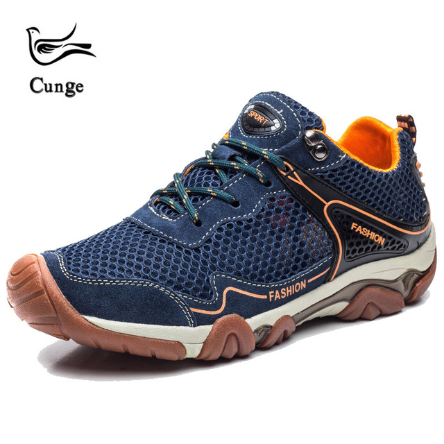 ec18a06da3c cunge Men's Outdoor climbing Tactical shoes Sports Trekking Sneakers  Low-Top Mesh Breathable Lightweight Hiking Shoes Size 38-44