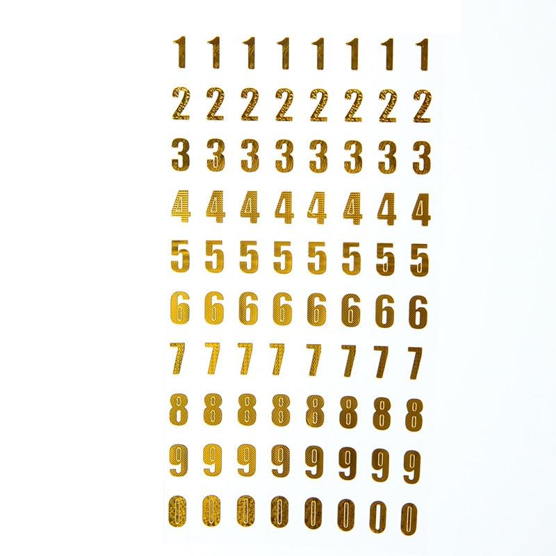 Купить с кэшбэком 2pcs/ LOt DIY hand account diary stickers bronzing English alphanumeric stickers develop children intellectual alphabet stickers