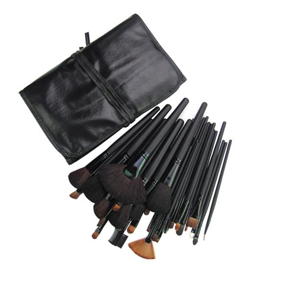 32 Unidades Accesorios de Maquillaje Pinceles Herramientas Kit Comestic con Estuche Negro Profesional Fundación Brush Sets y Kits de Alta Calidad