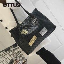 Frauen Pu-leder Tasche Webmuster Handtaschen Vintage Kupplungen Messenger Weiblichen Einkaufstragetaschen Heißer Marke original-design