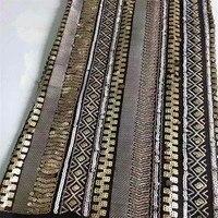 Вышивка нигерийское платье кружево золотая африканская кружевная ткань Роскошные пайетки ткань высокого качества французский Тюль Кружев