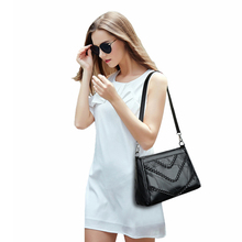 Women bag weaving pattern sheepskin genuine leather shoulder bags ladies working package big capacity fashion luxury gift