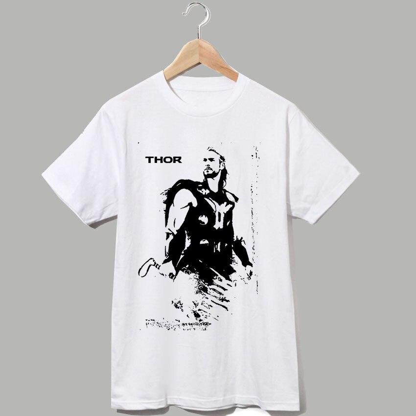 Thor et Loki , le dieu de thunder frappé couleur de l'eau bande dessinée d'impression de style t shirt