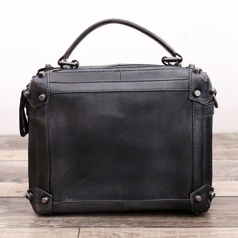 2017 Original Design New Fashion Brand Cow Leather Women Handbag Messenger  Crossbody Shoulder Female Trunk Solid Totes Bag