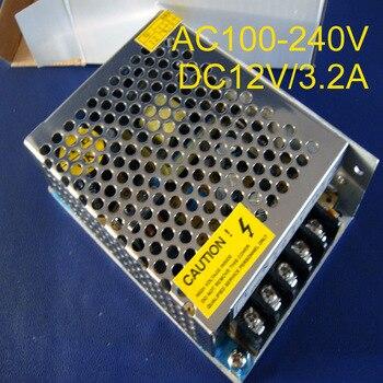 Fuente de alimentación conmutada de alta calidad de 12V 3.2A, convertidor led de 40W, fuente de alimentación de 3.2A 12V, adaptador de corriente DC12V, Envío Gratis, 2 unids/lote