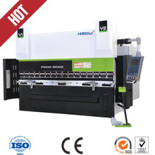 CNC hand press brake, hydraulic hand bending machine with DA52 cnc system controller