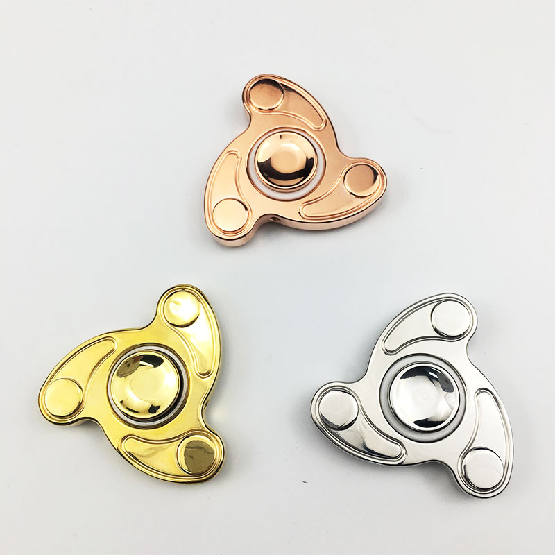 original hand spinner fidget v2 edc spinner ultra durable adhd toy brass or copper made tri spin