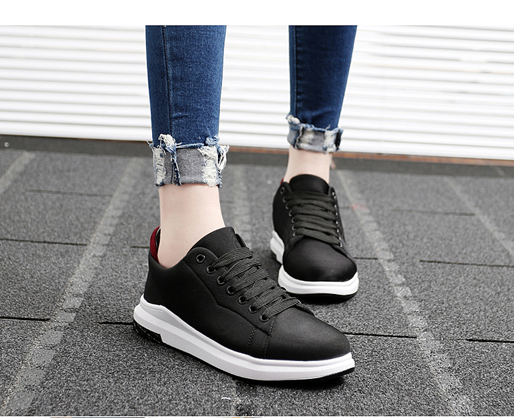 Stretch Fabric Casual Shoes Woman 2017 Fashion Spring Lace Up Ladies Shoes Breathable Women\'s Vulcanize Shoes Superstars ZD68 (30)