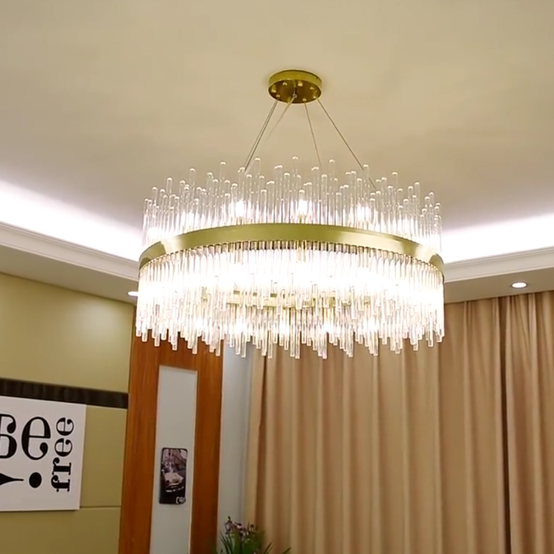 Us 395 25 15 Off New Modern Lighting Chandelier Luxurious Crystal For Living Room Dining Gold Led Lights In