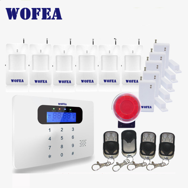 free shipping Wofea IOS & android APP control Intercom LCD touch keyboard wireless GSM alarm system security home kit