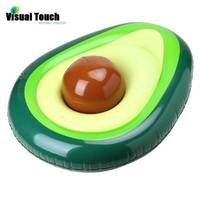 Visual Touch Rideable Avocado Float Toy Floatie Ride On Blow Up Summer Fun Swimming Pool Party Toy Lounger Floatie Raft