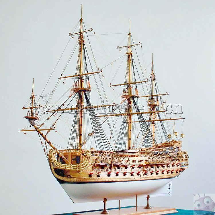 בקנה מידה 1/50 יוקרה קלאסי מפרש סירת עץ דגם ערכות סן פליפה ספינת אנגלית הוראות