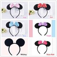 10 teile/los Minnie Mickey Mouse Mädchen Partei Liefert Stirnband/Haarband Kinder Geburtstag Dekoration Baby Shower Party Favors Stirnband