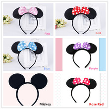 10pcs/lot Minnie Mickey Mouse Girls Party Supplies Headband/Hair Band Kids Birthday Decoration Baby Shower Party Favors Headband