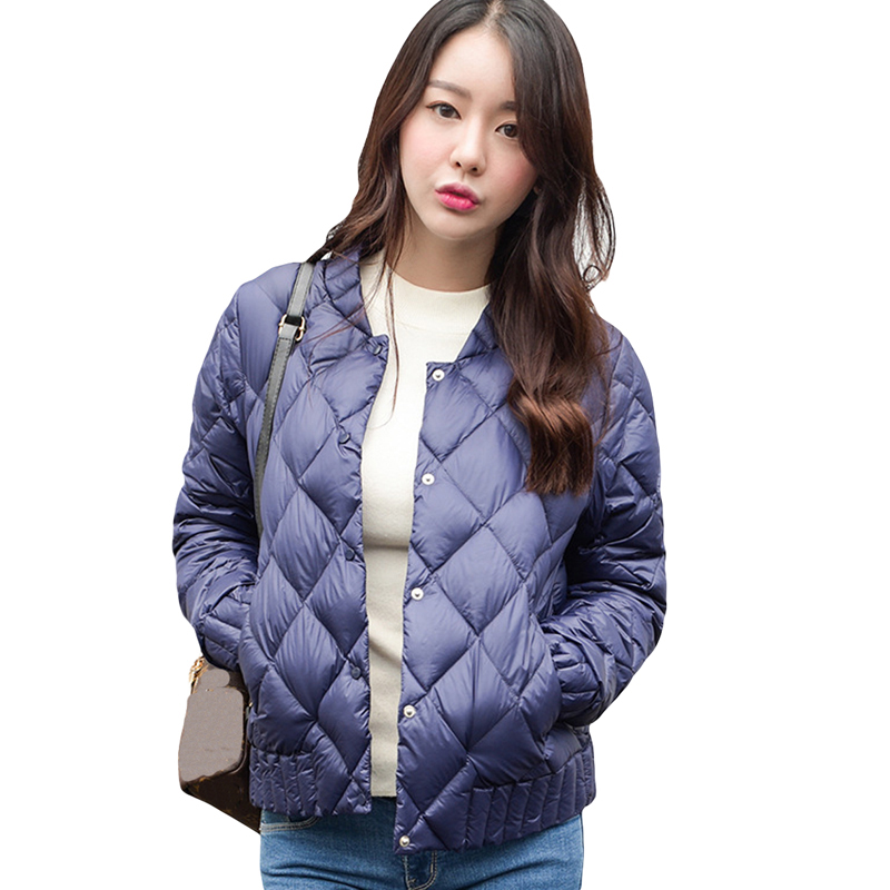 Winter Women   Down   Jackets 2018 New Thin Light White Duck   Down     Coats   Slim Short Fashion Warm Female Outwear Windproof   Down     Coat