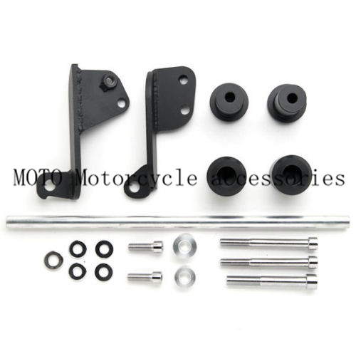 Black/Carbon No Cut Motorcycle Frame Sliders For Honda CBR 600RR CBR600RR 2003 2004 2005 2006 Motorbike Frame Sliders motorcycle part fender eliminator tidy tail for honda cbr 600rr 2003 2006 cbr1000rr 2004 2007 motor black