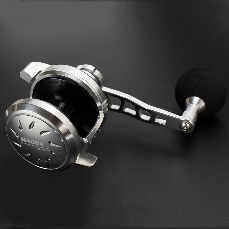 Madox Slow Jigging reel PE3 400M Max Drag 23kg 10BB High Speed G Ratio 5
