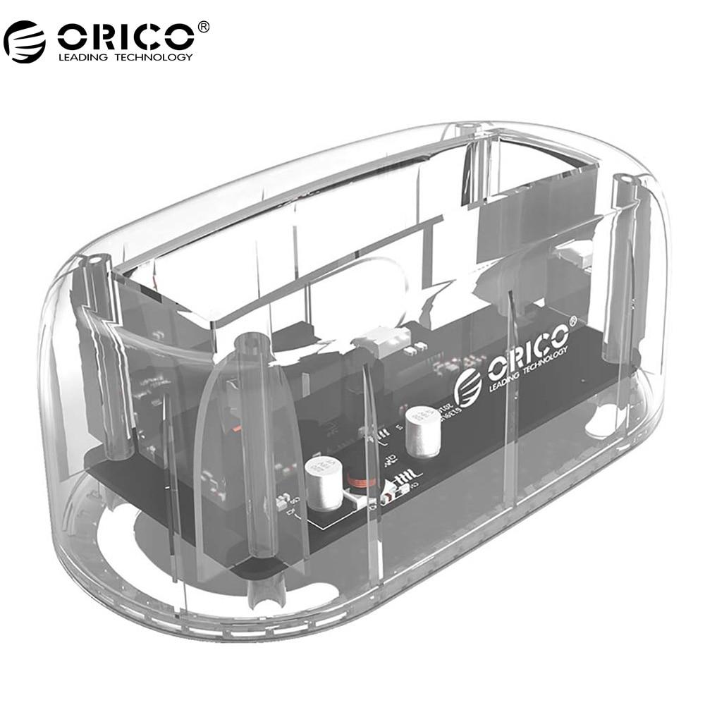 ORICO 2.5 ''/3.5 HDD Transparent Station D'accueil Support 8 TB De Stockage UASP Protocole USB 3.0 à SATA 3.0 Disque Dur Boîtier