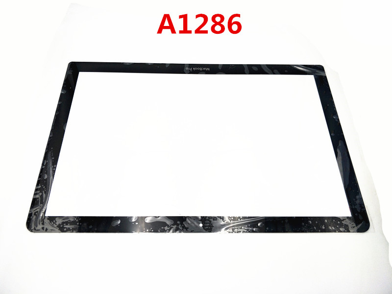 Front LCD Glass <font><b>Screen</b></font> <font><b>A1286</b></font> Unibody Replacement Part for MacBook Pro 15