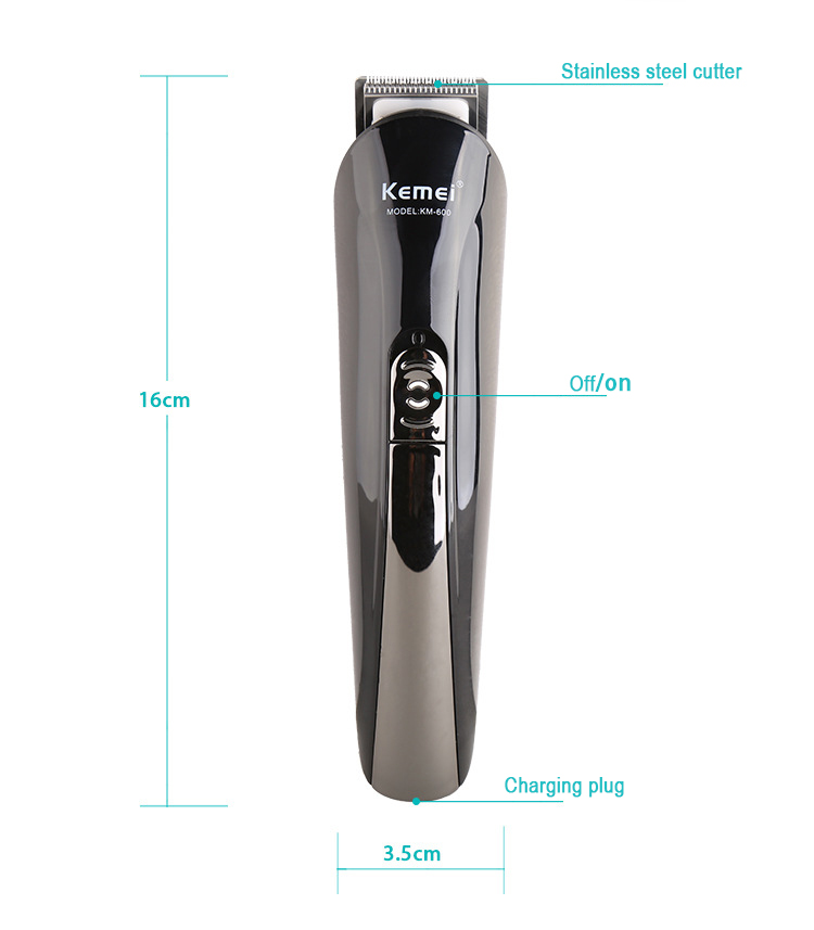 100-240V kemei hair trimmer 6 in 1 hair clipper electric shaver beard trimmer men styling tools shaving machine for barber 3
