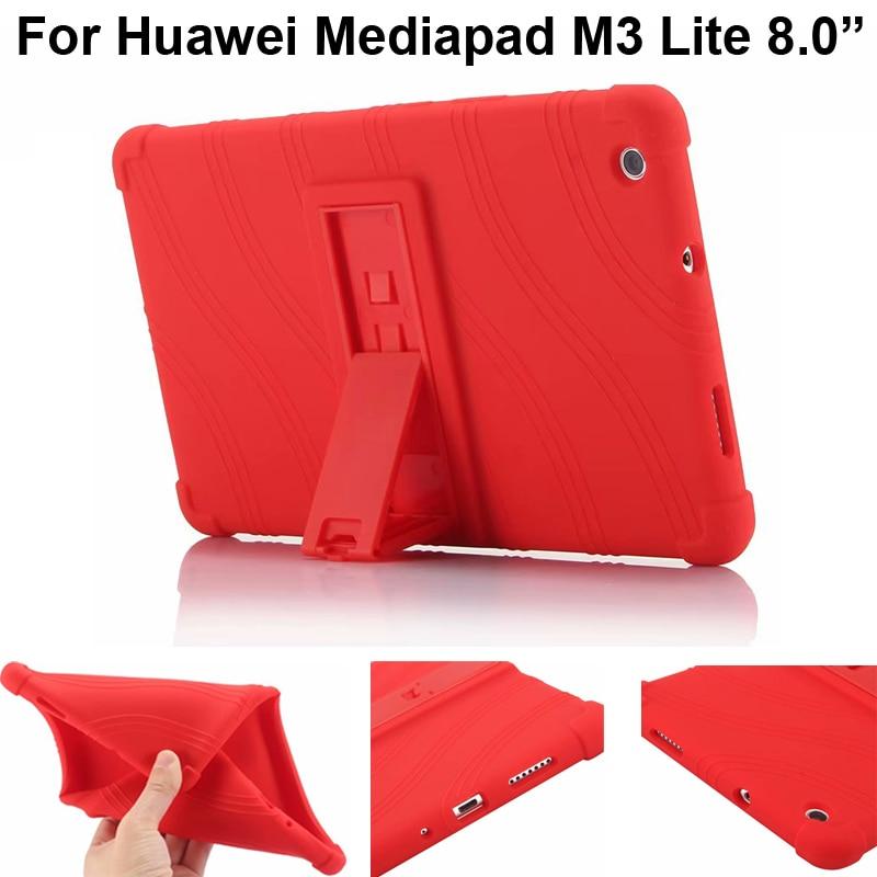 For Huawei Mediapad M3 Lite 8 Silicone Case Cover CPN-W09 CPN-AL00 Protector M3Lite 8.0 Soft Casing Shell Capa Fundas