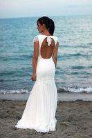 Bohemian Wedding Dress Beach Wedding Dress Lace Wedding Dress Silk Ciffon Gown 2016