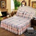 Мягкая шлифовальная простыня  утолщенная двухслойная кровать размера «King»  «Queen»  юбка  домашний текстиль  простыня  нескользящая  комплект ...