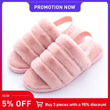 2019 TZLDN  Winter Warm Plush Shoes Woman Indoor outdoor Floor Shoes Faux Fur Slippers For Women Lady  Soft Home  Casual Shoes yomisoy lovely heart shaped ladies women home floor soft women indoor slippers sandals shoes female cashmere warm casual shoes