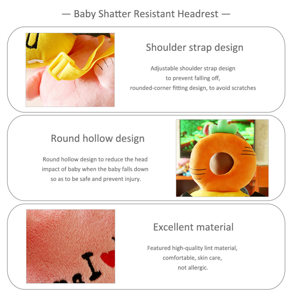 Pillow Baby Bedding Clever Cute Toddler Headrest Baby Shatter Resistant Pillow Children Head Protection Cushion For Baby Care Learn To Walk Attractive Fashion