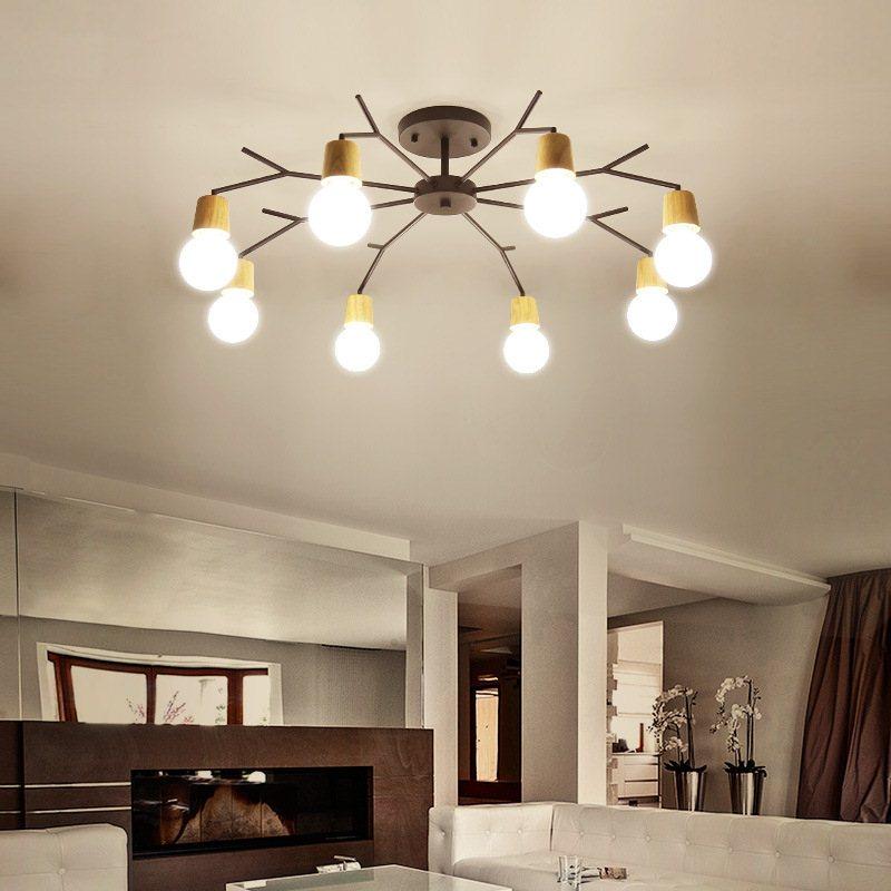 Led Ceiling Light Modern Lamp Living Room Lighting Nordic led Ceiling Lamp Bedroom Study Solid Wood Ceiling Kamp Home Lighting цена
