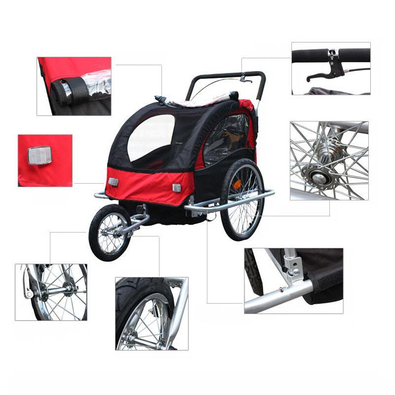 Aluminiu cadă cărucior pentru copii cu roți 20inch, trailer - Sport și în aer liber - Fotografie 3