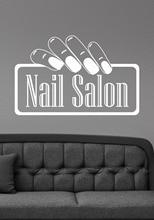 Fashion Nail Salon Wall Decal Quote Hand Nails Wall Stickers Manicure Girls Beauty Salon Art Mural Sign DIY Modern Decor  SYY684