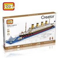 1860Pcs Titanic Ship 3D Building Blocks Toy Titanic Boat 3D Model Educational Gift Toy For Children