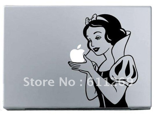 Free shipping snow white vinyl decal protective laptop sticker for apple macbook air