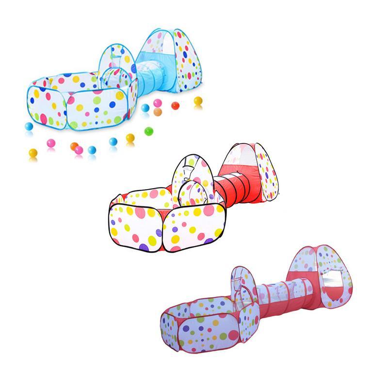 Bébé tentes enfants ramper Tunnel jouer tente 3 en 1 maison balle fosse piscine tente pour enfants jouet balle piscine