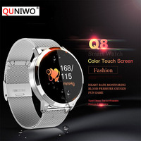 Q8 Heart Rate Monitor Smart Watch Blood Pressure Oxygen Fitness Smart Watch IP67 Pedometer Men Women Sport Fitness Watches