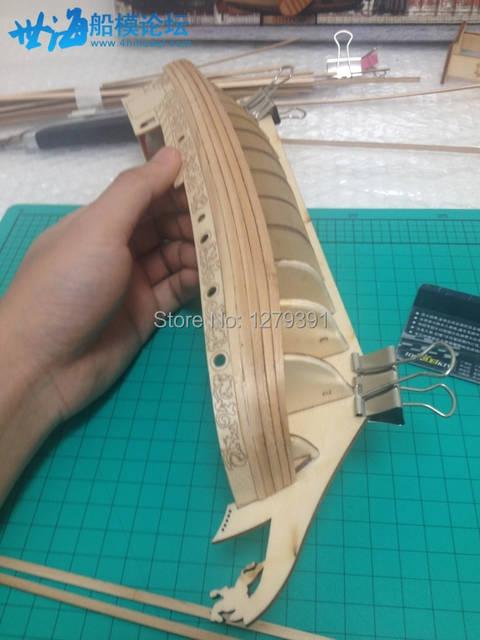 1:80 Laser cut wooden sailship model building kit: The Royal