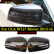 For Mercedes Benz CLA-W117 Rearview mirror covers carbon fiber 2013-2016 CLA180 CLA200 CLA250 CAL45 Motor Car Mirror
