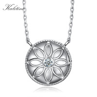 Genuine 925 Sterling Silver Flower Heart CZ Good Pendant Necklace Sea Shell Holiday Pendants For Woman