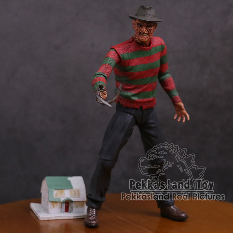 NECA A Nightmare on Elm Street Freddy Krueger 30th PVC Action Figure Collectible Toy 7 18cm