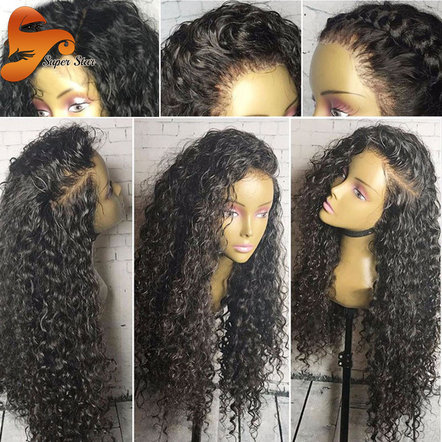 Curly Lace Frontal Wig Brazilian Virgin Hair Full Lace