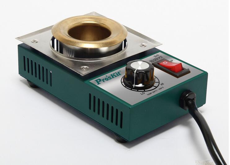 Lead-free Adjustable Temperature Titanium Solder Pot Soldering Molten Baptist Tin Stoves 100*40mm 300W 220V