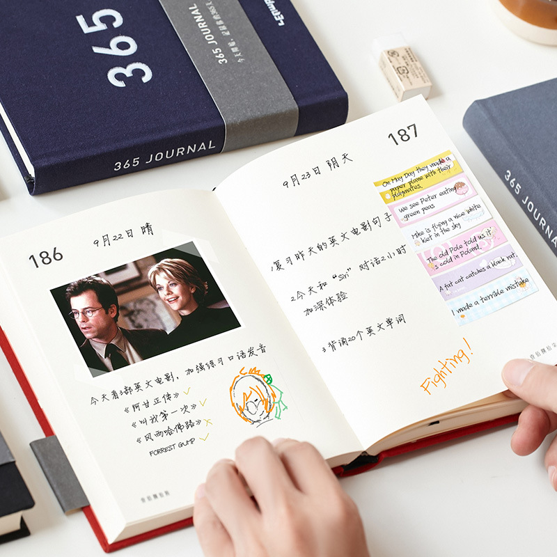 notebook diary 365 days personal DIY planner hardcover Agenda 2019 school office weekly schedule blank book kawaii stationery microsoft office 365 personal для windows macos и ios box