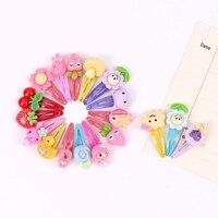 Horquillas de dibujos animados para niña y niño, pasadores Multicolor de 3cm, estilos variados, accesorios para el cabello, 10 Uds.