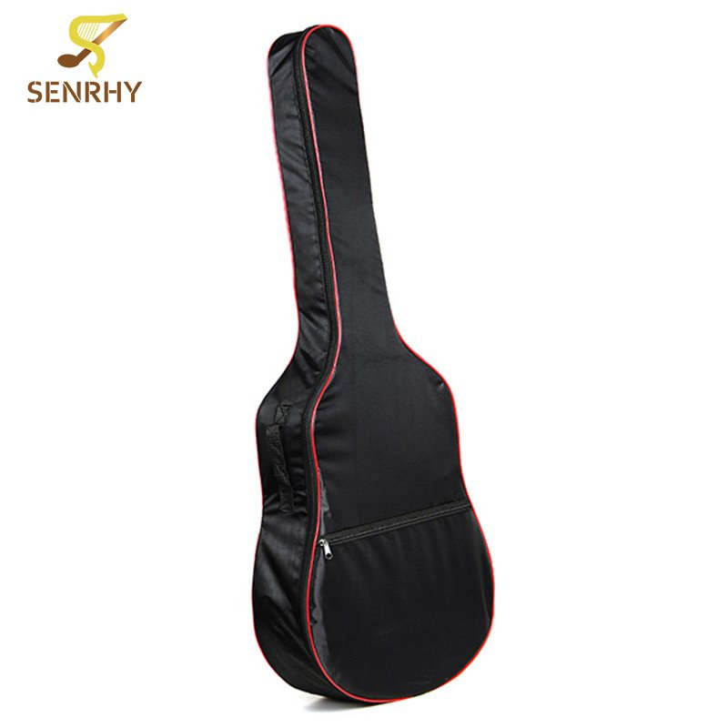 41 Inch Back Oxford Cloth Acoustic Guitar Bass Carry Cover Case Bag Holder with Shoulder Straps Music Instruments Accessories astraca deluxe brown black 40 41 acoustic guitar bag 600d nylon oxford guitar soft case gig bag 10mm thicken