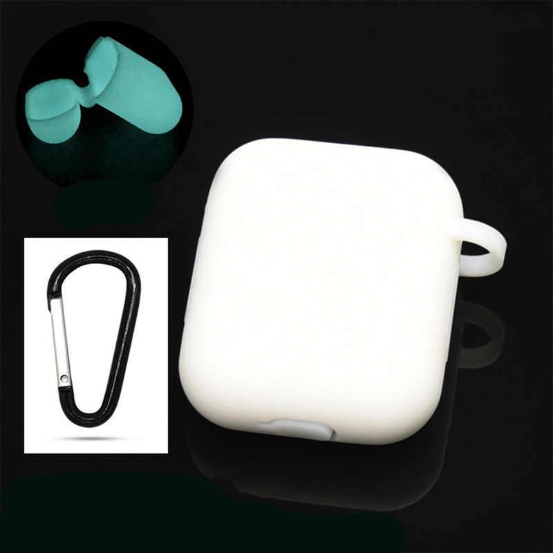 Caso do fone de ouvido sem fio para apple iphone caixa de carregamento duro transparente capa protetora acessórios da pele para fone de ouvido