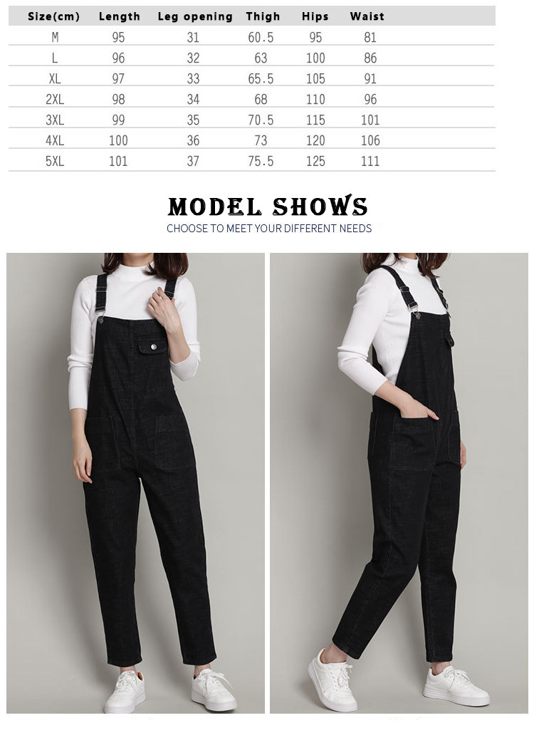 Large size jeans female 2018 spring new slim sling pants Korean black loose trousers women's clothing (2)
