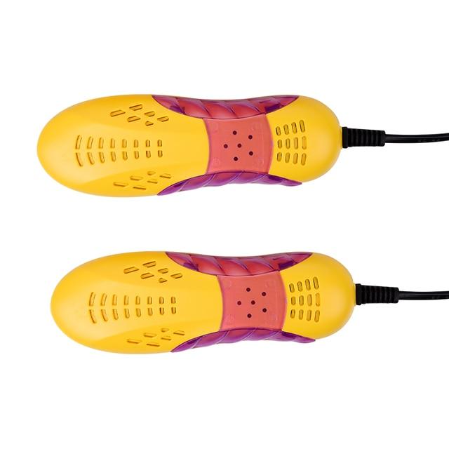 Livraison gratuite course voiture forme Voilet chaussure lumineuse sèche pied protecteur botte odeur déodorant déshumidifier dispositif chaussures sèche-linge chauffage