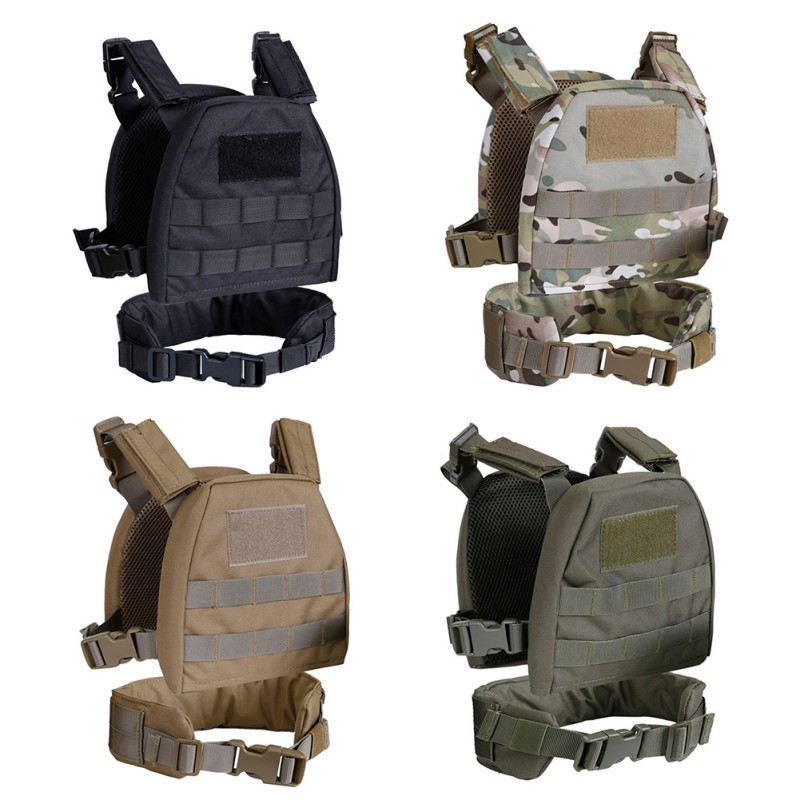 Children Kids Airsoft Tactical Military Molle Plate Carrier Combat Vest With Patrol Belt Child Clothes